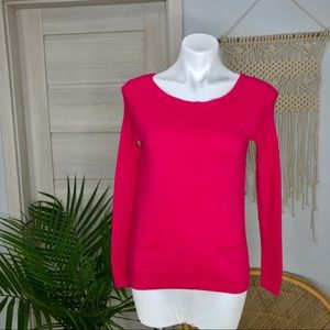 Loft | Pink Pocket Front Zip Back Sweater SZ XS